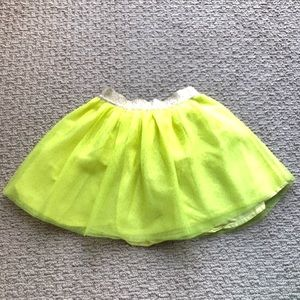 GAP NEON Yellow Tutu Skirt 😍 Children's Size 4T!
